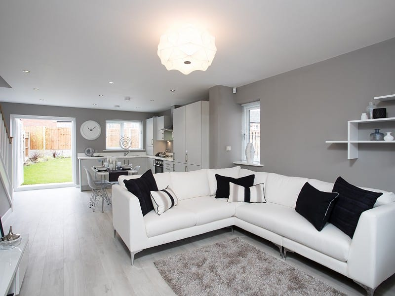 Spacious open plan living at Bower Brook Gardens
