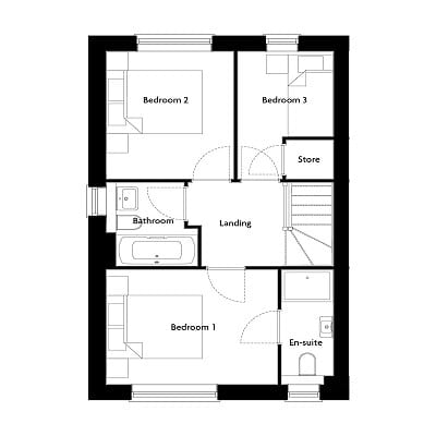 Floorplan of The Harper first floor