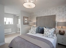 The master bedroom has it's own dressing area and ensuite
