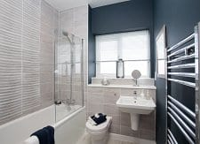 Showhome bathroom at Bower Brook Gardens in Widnes