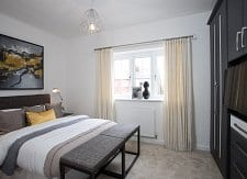 Showhome bedroom at Bower Brook Gardens in Widnes
