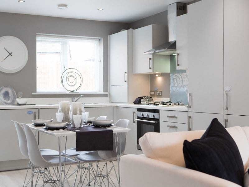 Showhome kitchen at Bower Brook Gardens in Widnes