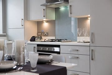 Showhome kitchen at Russell Homes' Bower Brook Gardens