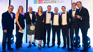 Photo of the award winning Russell Homes team