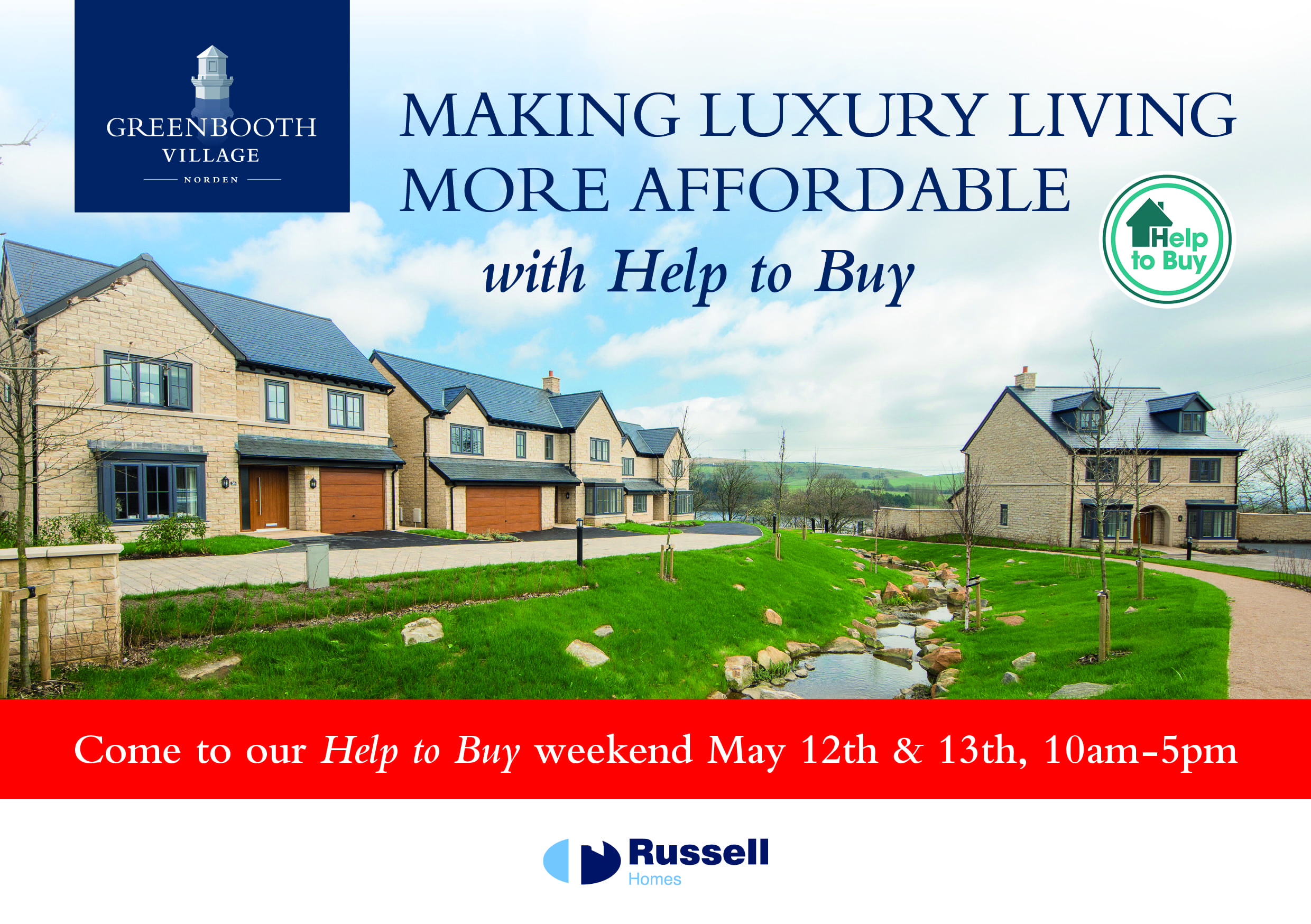 Russell Homes Greenbooth Village Help to Buy weekend 1