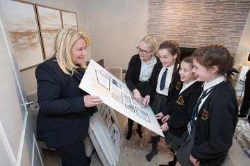 Russell Homes, Greenbooth Village, Cawson showhome, St Vincent De Paul School, Norden