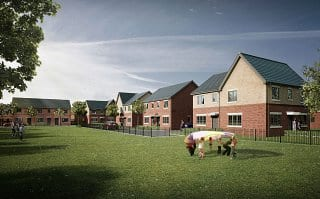 CGI of Bower Brook Gardens in Widnes, by Russell Homes