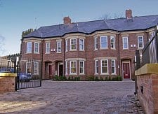 Church Court, Cheadle. Development of six Victorian style townhouses.