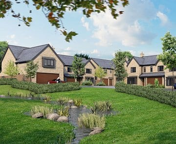 CGI of Greenbooth Village from Russell Homes