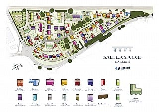 Saltersford Gardens Holmes Chapel Site Map