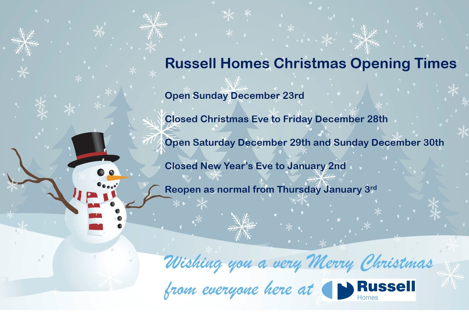 Russell Homes Opening Times Final