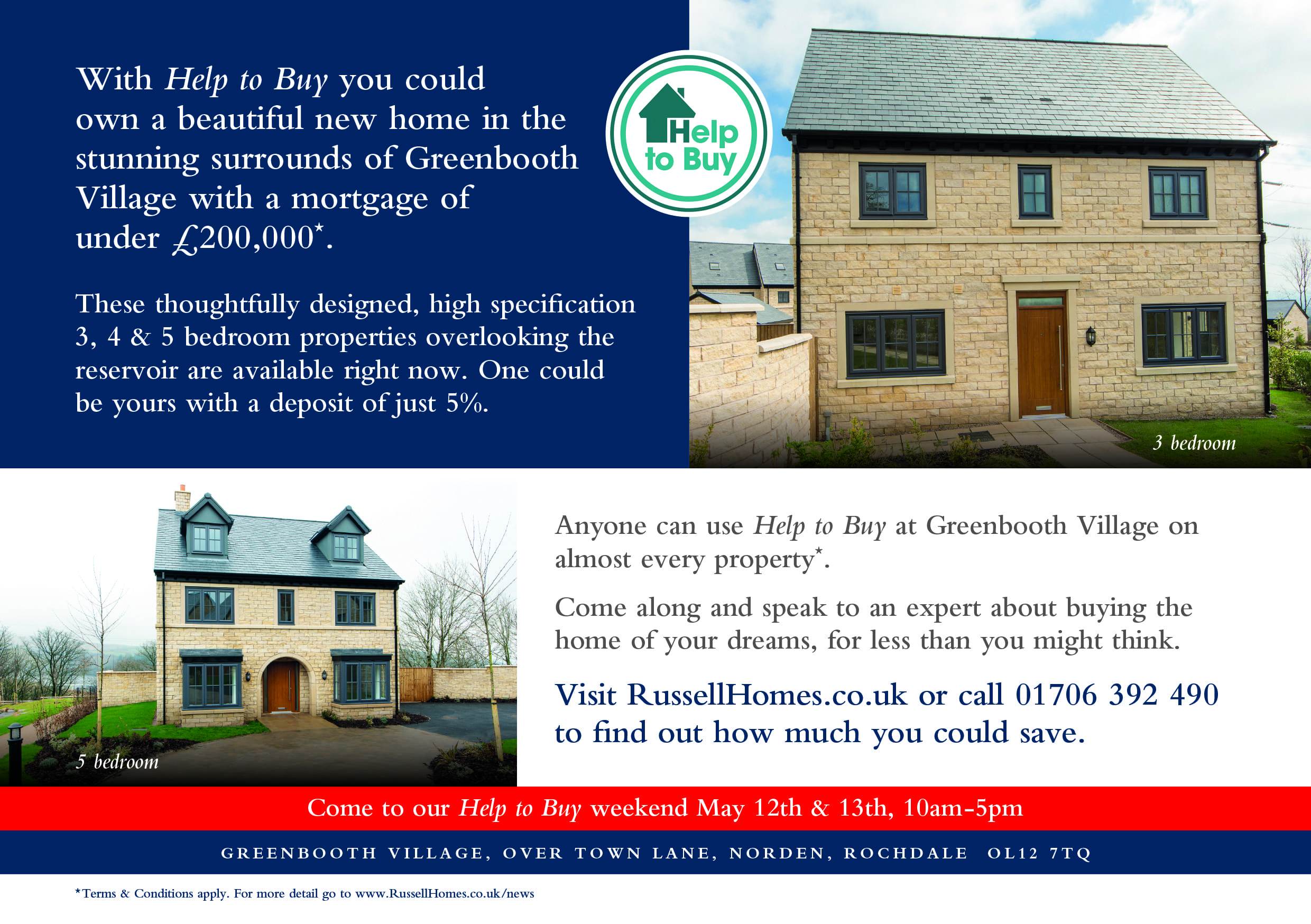 Russell Homes Greenbooth Village Help to Buy weekend 2