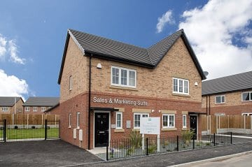 Sales centre at Bower Brook Gardens Widnes